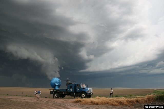 Doppler on Wheels 7 samples a severe thunderstorm in western Nebraska. (Photo by Tim Marshall, 2010)
