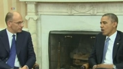 Obama, Italy's PM Discuss Economic Issues