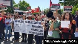 Ankara'da ABD Büyükelçiliği önünde düzenlenen protesto eylemi