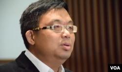 香港民主黨立法會議員涂謹申。(美國之音湯惠芸)