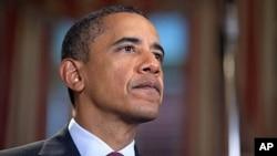 奧巴馬發表每週例行講話。