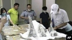Sừng tê giác bị thu giữ ở Việt Nam.
