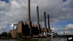 Power plant of the Volkswagen factory in the city Wolfsburg, Germany, the hometown of Volkswagen, Sept. 29, 2015.