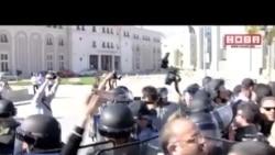 Напнато на протестот против пресудата за новинарот Кежаровски