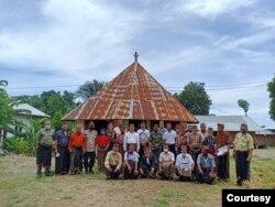 Mbaru Gendang (Rumah Adat) Bondo, di Kampung Liang Leso, Manggarai Timur. (Foto Courtesy: Humas KLHK )