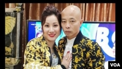 Vợ chồng Đường Nhuệ. Hình trích xuất từ website báo Tiền Phong.