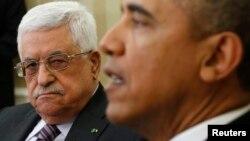 El presidente de EE.UU., Barack Obama, animó al mandatario palestino para que se esforzara un poco más por conseguir la paz.