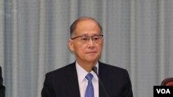 2016年9月23日,台湾外交部长李大维举行记者会,证实台湾未获邀请参加国际民航组织大会。(美国之音林枫拍摄)