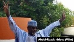 Amadou Djibo Ali dit Max, président du Front pour la restauration de la démocratie et la Défense de la république, la coalition des partis de l'opposition, Niamey, Niger. (VOA/Abdoul-Razak Idrissa )