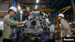福特汽車製造公司在越南海陽省的分廠。 (資料圖片)