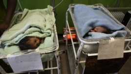 Newborn babies are seen in a government hospital in Harare, July 19, 2011.