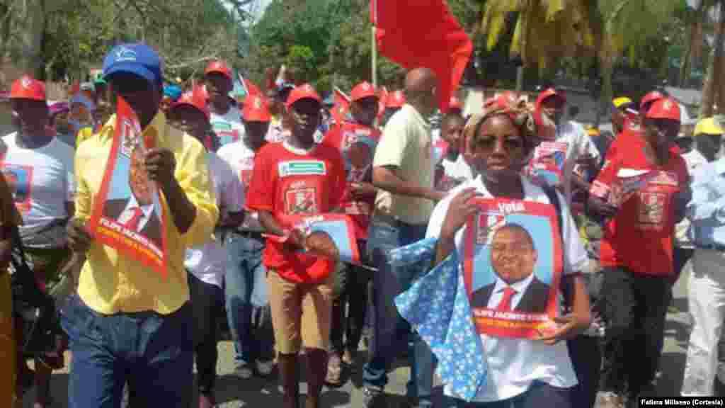 Moçambique Eleições 2014: Campanha de Filipe Nyusi/FRELIMO