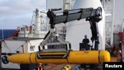 Kapal selam robotik tak berawak Bluefin-21 siap memulai lagi pencarian MH370 di Samudera Hindia (15/4).