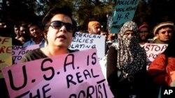 ڈرون حملوں کے خلاف مظاہرہ