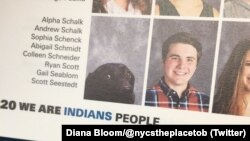 Alpha, a dog, appeared in the Stafford High yearbook.