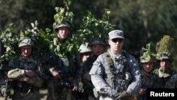 美國2014年9月與烏克蘭軍隊聯合演習時資料照。