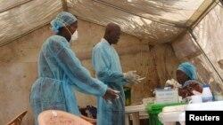 Gwajin cutar Ebola.