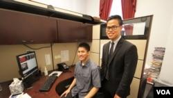 Alit Ponkaew and Lennox Chaiveera, the Thai American National Internship Program, 2016.
