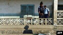 Un officier de police de Hankounou aux Comores le 30 juillet 2018.