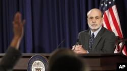 美國聯邦儲備局主席伯南克 (資料照片)