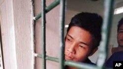 ນາຍ Vu Xuan Dung, ໄວ 23 ປີທີ່ສຸກສາລາພັກຟື້ນຢາເສບຕິດ ແຫ່ງນຶ່ງໃນແຂວງ Hoa Binh.ໃນພາກເໜືອຂອງຫວຽດນາມ.