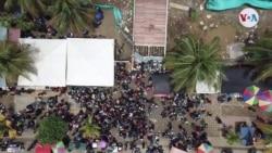 Video: Migrantes haitianos varados en Puerto de Necoclí antes de atravesar selva del Darién