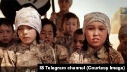 School children in an Islamic State-run boot camp.
