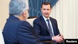 Prezident Bashar al-Assad Eron qonunchilari bilan uchrashuvda