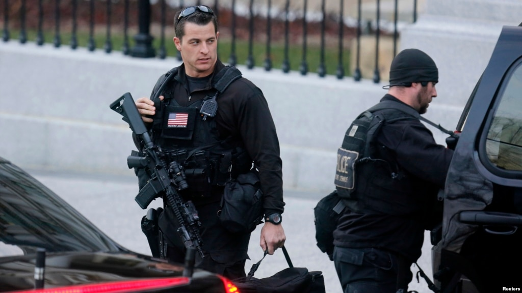 Secret Service agents are seen at the White House in Washington    Secret Service Agents Badge