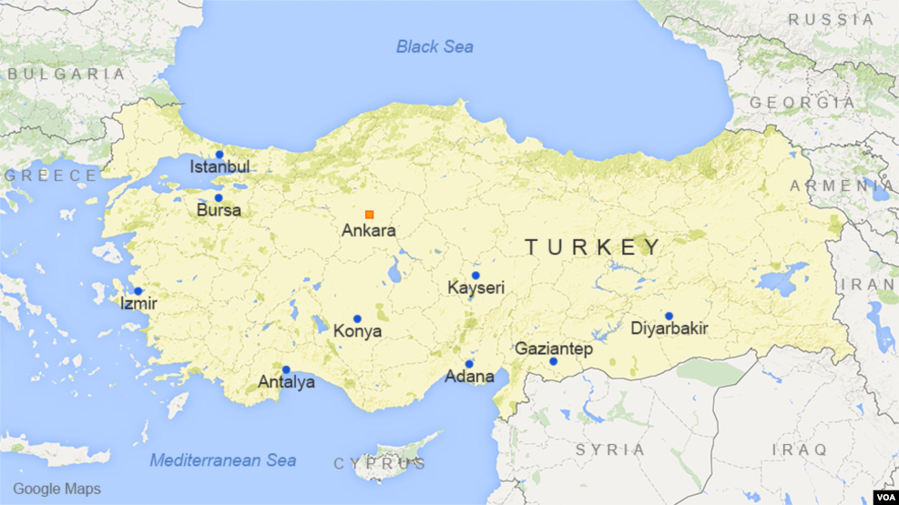 A map of Turkey shows the port city of Izmir.
