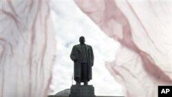 在格魯吉亞的斯大林像