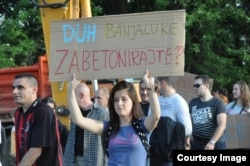 Protesti građana u Picinom parku, 30. maj 2012. (Foto: Incijativa 'Spasimo Picin park')