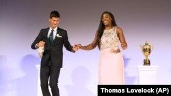 Novak i Serena tokom plesa za vreme šampionske večere na Vimbldonu