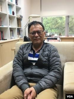 中研院政治所研究员蔡文轩(美国之音陈筠拍摄)