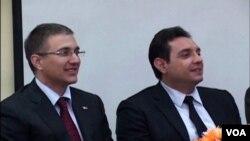 Nebojša Stefanović, predsednik skupštine Srbije i Aleksandar Vulin, ministar bez portfelja u Vladi Srbije zadužen za Kosovo