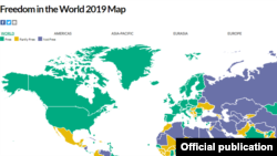 freedom house 2019 map