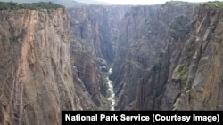 The inner canyon of Black Canyon of the Gunnison