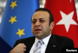 Turkey's EU Affairs Minister Egemen Bagis in Istanbul, June 26, 2012.