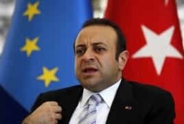 Turkey's EU Affairs Minister Egemen Bagis in Istanbul, June 26, 2012.