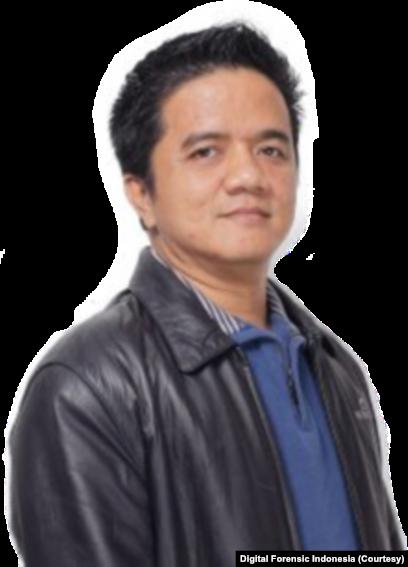Ruby Alamsyah, pakar digital forensic.