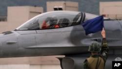 台湾空军F16战斗机座舱(2013年1月23日)
