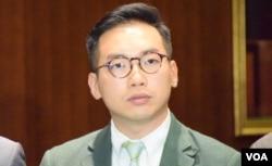 香港公民黨黨魁楊岳橋。(美國之音湯惠芸)