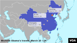Michelle Obama's travels, March 20 – 26
