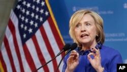 힐러리 클린턴 전 국무장관. (자료사진)