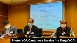 香港民意研究所12月29日公佈2020年終回顧民意調查顯示,香港人接近30年來最不快樂,44%市民給特首林鄭月娥0分,對香港政府的信任度跌至負27% (攝影:美國之音湯惠芸)