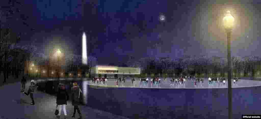 "Parte de la propuesta de ""Rogers Marvel Architects & Peter Walker and Partners""."