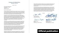 კონგრესმენების წერილი საქართველოს პრემიერ-მინისტრს