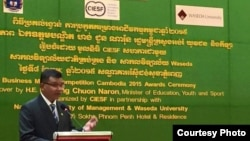 Education Minister Hang Chuon Naron told VOA Khmer that while Cambodia has made some progress, many children still drop out of school in order to seek work. (Courtesy photo: Hang Chuon Naron)
