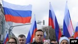Алепксей Навальный на акции памяти Бориса Немцова. Москва, 29 февраля 2020.