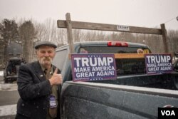 唐纳德·川普的支持者。(美国之音记者方正拍摄)